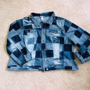Indigo Thread Co. Jackets & Coats - NEW Oversized Indigo Thread Co. Patch Jean Jacket